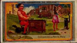 CHROMO ..AU PLANTEUR DE CAIFFA...CONSERVES DE PETITS POIS..... - Autres