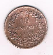 10 CENTESIMI 1866 CM  ITALIE /1024/ - 1861-1946 : Royaume