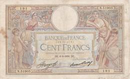 Billet France  100 Francs  Luc Olivier Merson DE.6 = 8 1936 D E Ce Billet A  Circulé - 1871-1952 Anciens Francs Circulés Au XXème