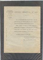 1916....VERDUN ...ORGRE GENERAL BAZELAIRE N°103...entrée Bataille De Verdun - Bücher, Zeitschriften, Kataloge