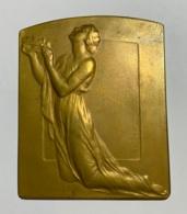 Médaille -plaquette Bronze. P. Theunis. A Mon Ami Clovis Delattre. Janvier 1938.  60 X 75 Mm. - Professionnels / De Société