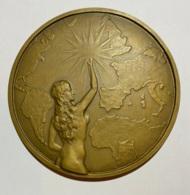 Médaille Bronze. Carlos Van Dionant.. Presse Bruxelloise. 1946.  70mm - Professionnels / De Société