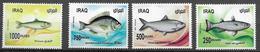 IRAQ, 2019, MNH,  FISH,4v - Fishes