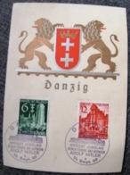 Danzig 1939 Karte Mit Sonderstempel - Postcards