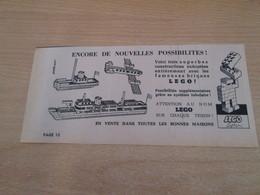 SPI2020 Issu De Spirou  1/4 PAGE DE PUBLICITE ANNEES 50/60 LEGO - Cataloghi
