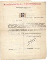 Lettre De Récompense à Un Enfant Pour Record Vente De Timbres Antituberculeux  1935  Saint Cloud Port France 1€ - Erinnophilie
