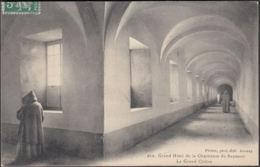 CPA Grand Hôtel De La Chartreuse Du Reposoir. Le Grand Cloître, Gel. 1913 - Chartreuse