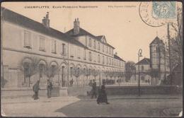 CPA Champlitte, Ecole Primaire Supérieure, Gel. 1908 - Sonstige Gemeinden