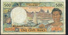 TAHITI P25e 500 FRANCS ( 1979 ) PAPEETE Signature 6 #H.3          VF NO P.h. - Papeete (Polynésie Française 1914-1985)