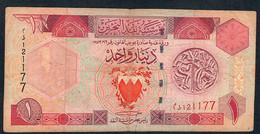 BAHRAIN P19b 1 DINAR 1973. FINE NO P.h. - Bahrein