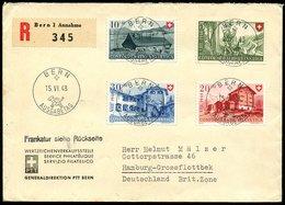 SCHWEIZ 1948, R- ERSTTAGSBRIEF,MIT NR. 508-11 PRO PATRIA NACH HAMBURG, TOPP! - Non Classés