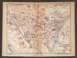 CARTE PLAN 1935 N° 575 - PÉRIGUEUX THÉATRE De La NATURE PARC GAMANSON ENTREPOT Des TABACS PRISON - Topographische Kaarten