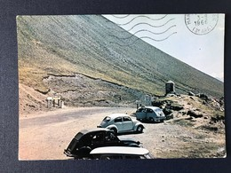 Carte Postale 2 CV Citroên Fiat 500 VW Coccinelle Montagne Col De Vars - Passenger Cars
