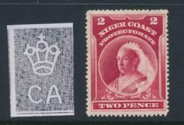 NIGERIA/NIGER COAST, 1897 2d Wmk Crown CA P16 Superb Light MM, SG68, Cat £6 - Nigeria (...-1960)