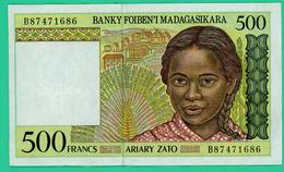 500 Francs - Madagascar - B87471686 - TTB - - Madagascar