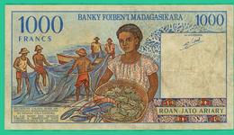 1000 Francs - Madagascar - C00445100 - TB +  - - Madagascar