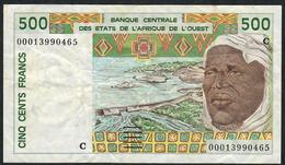 W.A.S.. BURKINA FASO P310Cj 500 FRANCS (20)00    VF   NO P.h. ! - États D'Afrique De L'Ouest