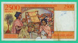2500 Francs - Madagascar - A10800869 - TTB  - - Madagascar