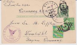 USA Postkarte Mit Prexie Beifrankatur - Dombühl/Bayern 1947 US Civil Censored - Vereinigte Staaten