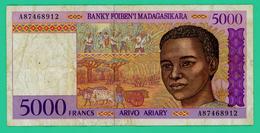 5000 Francs - Madagascar - A87468912 - TB  - - Madagascar