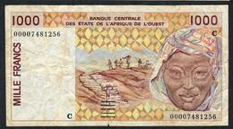W.A.S.. BURKINA FASO P311Ck 1000 FRANCS (20)00    FINE SMALL TEAR    NO P.h. ! - États D'Afrique De L'Ouest