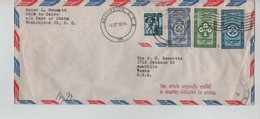 191PR/ US Air Mail Cover Egyptian Stamps.Scout C.Washington 1956 > Texas Tis Article Originally Mailed In Country .... - Etats-Unis