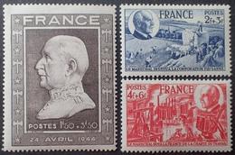 R1615/1841 - 1944 - PETAIN - SERIE COMPLETE - N°606 à 608 NEUFS** - France