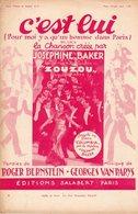 JOSEPHINE BAKER - C'EST LUI - 1934 - CHANSON DU FILM ZOUZOU - EXCELLENT ETAT PROCHE DU NEUF - - Music & Instruments