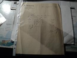 FACTURE HURAUX. 1909. FERME DE MERMONT. CREPY EN VALOIS. OISE PAILLE ET AVOINE. - Agriculture