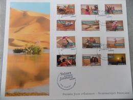 FDC Grand Format France 2013 : Valeurs De Femmes, Femmes De Valeurs (série Complète 12 Timbres) - FDC