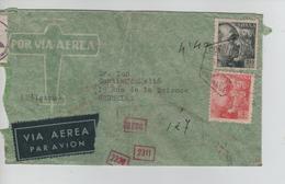 192PR/ Spain Air Mail Cover C.Madrid 25/1/4. German Censor 'd' Strip + Number Censor > Brussels - 1931-Aujourd'hui: II. République - ....Juan Carlos I