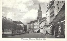 Dudelange  -  Place De L'Hôtel De Ville  -  Messagerie P.Kraus,Luxembourg  2 Scans - Postales