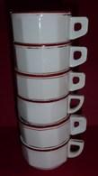 Superbe Lot De 6 Tasses à Café De Comptoir De Bistrot - Cups