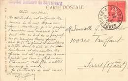 Cachet Hopital Militaire De Sarrebourg Sur Carte Postale - Postmark Collection (Covers)