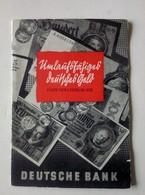 Deutsche Bank - Umlaufsfähiges Deutsches Geld 1. Februar 1938 - Booklet - Böhmische Union-Bank Filiale Asch - Lots & Kiloware - Banknotes
