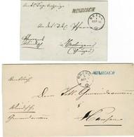 """1860, 1866, """" WIDISCH """" Und """" BRUGG """", A3154 - Poststempel"""