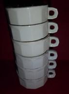 Superbe Lot De 6 Tasses à Café De Comptoir De Bistrot - Tasses