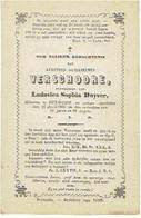 DIKSMUIDE - Augustus VERSCHOORE - (echtgen. L. Duyver) - Overleden 1865 - Santini