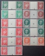 R1615/1855 - 1941/1942 - TYPE PETAIN - PAIRES Avec INTER-PANNEAUX - TIMBRES NEUFS** - France