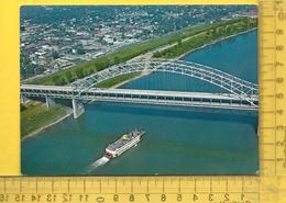 CPM  ETATS-UNIS, K.Y. LOUISVILLE : Vue Aérienne, Sherman Minton Bridge, Ohio River, New Albany - Louisville