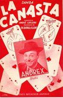 REPERTOIRE ANDREX DE MARSEILLE - LA CANASTA - (JEU DE CARTES) - 1951 - EXC ETAT  PROCHE DU NEUF- - Musique & Instruments