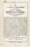 LICHTERVELDE / VEURNE - Julie DESCHRYVERE - Geboren 1844 En Overleden 1868 - (franstalig) - Images Religieuses