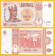 Moldova 10 Lei P-22 2015 UNC - Moldavie