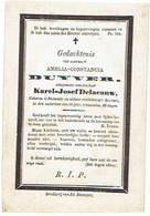 DIKSMUIDE - Amelia DUYVER - (echtgen. K. Delaeauw) - Overleden 1865 - Santini