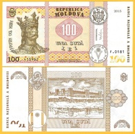 Moldova 100 Lei P-25 2015 UNC - Moldavie