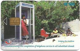 Maldives - Dhiraagu (chip) - Phone Booth - 301MLDGIA - Chip Siemens S37, 100MRf, Used - Maldive