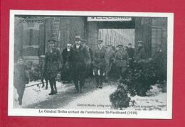 C.P. Jemappes = 1914-1918 Le  Général BOTHA Sortant De L' Ambulance  St-Ferdinand  ( 1918 ) - Mons
