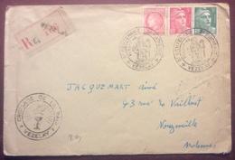608 8ème Centenaire 2ème Croisade 21-22/7/1946 Croisade Paix Vezelay Recommandé  Gandon 716 719 Mazelin 676Lettre - Postmark Collection (Covers)