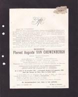 LIERRE LIER Florent VAN CAUWENBERGH Avocat Notaire Sénateur Député Conseil Provincial Anvers Malines 1841-1923 DE BRUYN - Décès