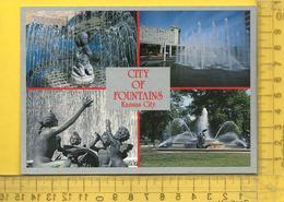 CPM  ETATS-UNIS, K.S. , KANSAS CITY : City Of Fountains, 4 Vues - Kansas City – Kansas